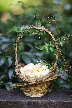 Rose petals for the flower girl