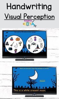 Engage reluctant writers with Halloween visual perceptual writing slides. Use for literacy centers, workstations, rotations, early finishers, small groups, special education, or school-based occupational therapy ideas. Share with students digitally for teletherapy, OT telehealth sessions or classroom meets. Great remote or distance learning activity to practice sentence structure. Kids work on fine motor skills, perception, practice handwriting, or keyboarding in a fun & engaging way.