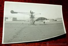 FOTOGRAFIA DEL AERODROMO CABO JUBY, SAHARA ESPAÑOL, SIMULADOR DE VUELO, AVIACION, MIDE 11 X 8 CMS. - Foto 1