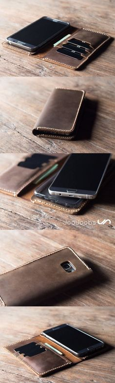 Samsung Galaxy Note 5 wallet case, Leather Galaxy Note 5 case with card holders… Handmade Leather Wallet, Leather Gifts, Leather Craft, Leather Phone Case, Leather Projects, Leather Design, Leather Accessories, Galaxy Note, Galaxy S8