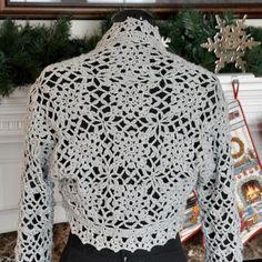 (4) Name: 'Crocheting : Winter Shimmer Shrug (C12-006)