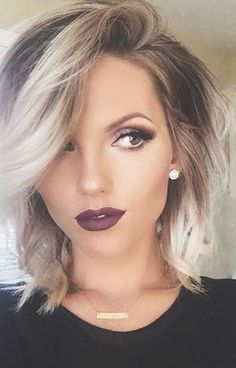 Looking for dazzling short ombre hair ideas? Find a full photo gallery and know the benefits plus cautions before you& going for short ombre hair. 2015 Hairstyles, Short Hairstyles For Women, Pretty Hairstyles, Hairstyle Ideas, Hairstyles For Medium Length Hair Easy, Female Hairstyles, Beautiful Haircuts, Amazing Hairstyles, Medium Hairstyles