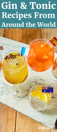 Here, five Gin & Tonic variations from countries around the globe that you can make at home.