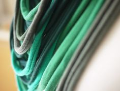 Upcycled t-shirt scarf: Shades of green[378] by StripsUp on Etsy