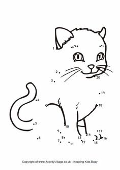 We've got a new but growing collection of animal dot to dots to keep children guessing! Many have equivalent animal colouring pages if you prefer. The dot to dots are arranged in A-Z order. Animal Coloring Pages, Coloring Books, Colouring, Dot To Dot Puzzles, Dot To Dot Printables, Dotted Drawings, Creative Writing Classes, Alphabet Words, Connect The Dots