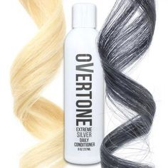 For deep charcoal gray hair, you HAVE to have oVertone color conditioners. Keep that silver hair dye fresh with our kit, or use it to get silver hair at home!