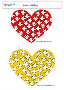 Envelope Mickey amarelo e vermelho