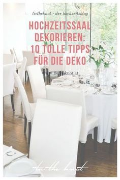 Hochzeitssaal dekorieren: 10 Tipps für die perfekte Deko der Location The choice of wedding location influences the style of your wedding. We have 10 tips on how to decorate your wedding room. Wedding Venues In Virginia, Inexpensive Wedding Venues, Wedding Reception Venues, Wedding Locations, Wedding Planning On A Budget, Wedding Planning Websites, Wedding Invitation Envelopes, Cheap Wedding Invitations, Wedding Website Examples