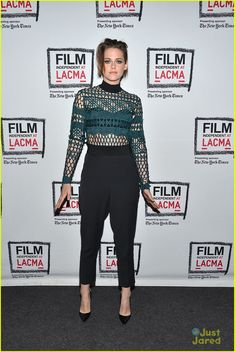 Kristen Stewart makes a happy arrival at a screening of Clouds Of Sils Maria at Bing Theatre At LACMA on Friday evening (April 3) in Los Angeles.
