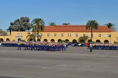 boot camp graduation on the parade deck 2010, MCRD, San Diego (built in the 1920's)