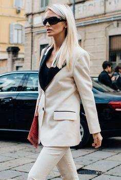 Уличная мода  Неделя моды в Милане сезона весна-лето 2017  уличный стиль 986c19b4749