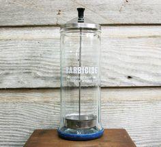 Vintage Barber Shop Dissinfecting Jar  Barbercide by AuroraMills, $95.00