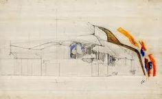 Sketch for Vuoksenniska Church, 1955 - Alvar Aalto