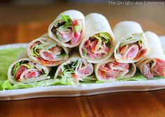 Mini BLT Wraps. Click on the image for the ingredients and discover more delicious recipes.  #Appetizers