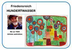 Portrait d'artiste Hundertwasser en MS