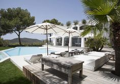 Pool with terrace in Ibiza