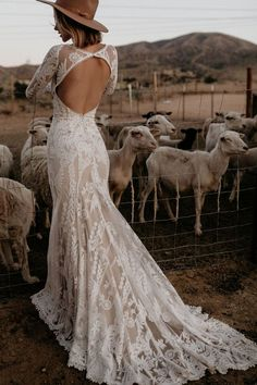 Willow Lace Long Sleeve Bohemian Wedding Dress Dreamers and Lovers Wedding Dress Trends, Best Wedding Dresses, Bohemian Lace Wedding Dress, Modest Wedding, Lace Bride, Wedding Lace, Long Sleeve Wedding Dress Boho, Boohoo Wedding Dress, Casual Wedding