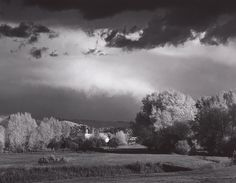 1958 Autumn Storm, Las Trampas, near Peñasco, New Mexico by Ansel Adams 84.92.250