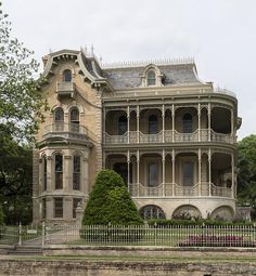 The John Bremond Jr. House, one of 11 grand Victorian homes erected in the Bremond Block in downtown Austin, Texas, from the to 1910 The John Bremond Jr. House, one of 11 grand Victorian homes erected in the Old Mansions, Abandoned Mansions, Abandoned Buildings, Abandoned Places, Mansions Homes, Victorian Architecture, Beautiful Architecture, Beautiful Buildings, Beautiful Homes
