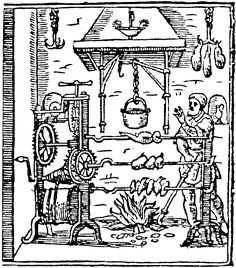 Medieval Cook Clip Art | from Il Trinciante (The Carver), byVincenzo Cervio, 1604.
