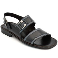 b549807758c0 Buy Online Swanky Black Leather Floater Sandal For Men