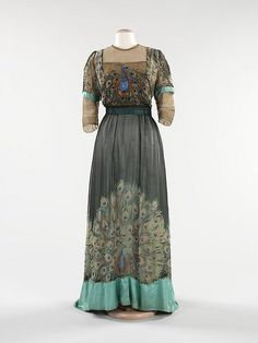 Peacock Evening Dress 1913 by Art & Vintage, via Flickr