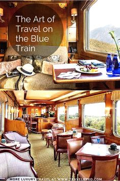 Take a trip back in time to the old-world luxury aboard South Africa's Blue Train and savour the art of travel before you even arrive at your destination. Blue Train, Back In Time, Old World, South Africa, Travel Inspiration, Old Things, Articles, Luxury