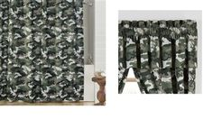 Green Camo Browning Buckmark Shower Curtain and Matching Window Valance - Visit our website at www.crystalcreekdecor.com for more sizes and selections plus other Cabin/Lodge Décor ideas at great prices!  Also be sure to join our mailing list for upcoming offers, new products and special package deals.
