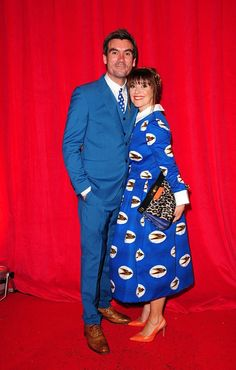 Support: Jeff Hordley and Zoe Henry arriving for the British Soap Awards