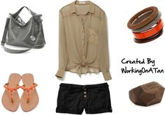 Natural Neutral by workingonatan #Summer #Polyvore #Clothes #Outfits