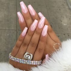 Lovely nails by @customtnails1 featuring our Magic White Chrome Powder over a pink base.  Shop for our nail powders and pigments at DailyCharme.com! ✨✨