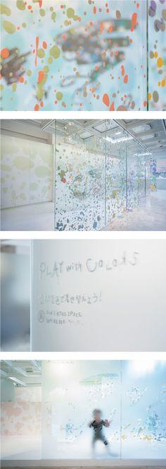 「空間を色で着せ替えよう!展」 キッズスペース Space design : Hisae IGARASHI Lighting design : Yuko YAMASHITA #カッティングシート #CUTTING SHEET