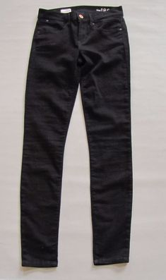 Gap Legging Jeans 26 2 Black Stretch skinny Jegging 1969 Denim Jean Mid Rise  #GAP #LeggingsSlimSkinny