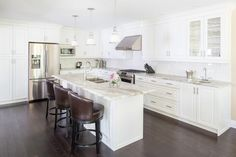 COXSON-McINNIS Kitchens, Cabinetry & Millwork is the kitchen remodeller of choice in Burlington, Ontario. We'd love to share our kitchen ideas with you. Centre Island, Kitchen Islands, Home Decor, Homemade Home Decor, Decoration Home, Interior Decorating