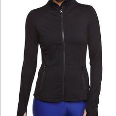 Zella (Nordstrom) zip up active jacket Zella brand zip up active jacket in black. Very gently worn & washed. Has thumbholes  amazing jacket!!!! Zella Jackets & Coats
