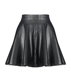 Milly - Delphine Leather Skirt