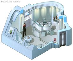 Captain Janeway's ready room - U.S.S. Voyager