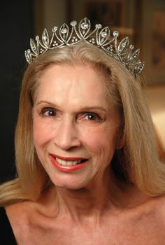 Lady Colin Campbell wearing the Smedore Tiara, United Kingdom (19th c.; diamonds, silver).