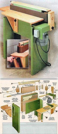 Edge Sander Plans - Sanding Tips, Jigs and Techniques   WoodArchivist.com #woodworkingtools