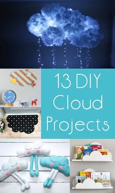 Is your head in the clouds? Mine too! At least it will be with these cloud crafts – I absolutely love these unique project ideas, and you will too! Diy Craft Projects, Craft Tutorials, Diy Crafts For Kids, Fun Crafts, Craft Ideas, Diy Ideas, Amazing Crafts, Science Projects, Project Ideas