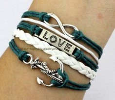 Infinityloveanchor bracelet in antique by ThePrettyJewelryShow, $5.29