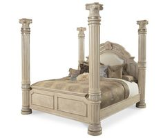 MM Furniture Monte Carlo Queen Poster Bed - Beds - Bedroom Furniture - Bedroom - Furniture