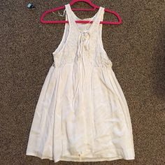 LF White Summer Dress Worn once! LF summery white dress. Empire waist. Adorable but doesn't fit me right! LF Dresses Mini