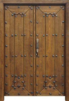 Port n r stico modelo po011 solapada puertas rusticas - Puertas de entrada de madera rusticas ...