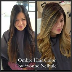 Ombre with face framing highlights