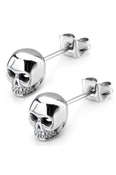 Check out this awesome unique style earring. This Women's Stainless Steel Polish Finish Skull Stud Earrings is very stylish. Made from a high quality stainless steel. hypoallergenic that prevents skin from being allergy. Finished with skull design. Skull Earrings, Skull Jewelry, Body Jewelry, Jewelry Gifts, Jewelry Box, Jewelry Accessories, Jewlery, Punk Jewelry, Hippie Jewelry