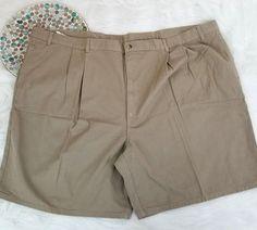 Duck Head Mens Shorts Size 56 Beige Chino Khakis Pleated Career Casual o1124 #DuckHead #KhakisChinos