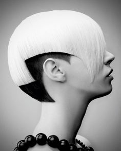 RIP Vidal Sassoon: Amazing 5 Point Asymmetrical Candy Colored Hair  i want to have sex with this person's head