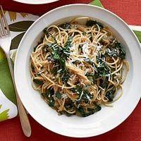 10-Shallot Spaghetti with Kale, #Kale, #Spaghetti