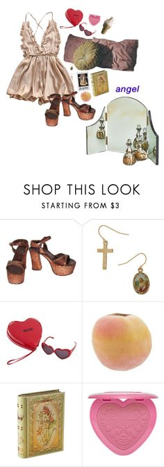 """music to watch boys to"" by psychedlia ❤ liked on Polyvore featuring Moschino, WALL and lanadelrey"
